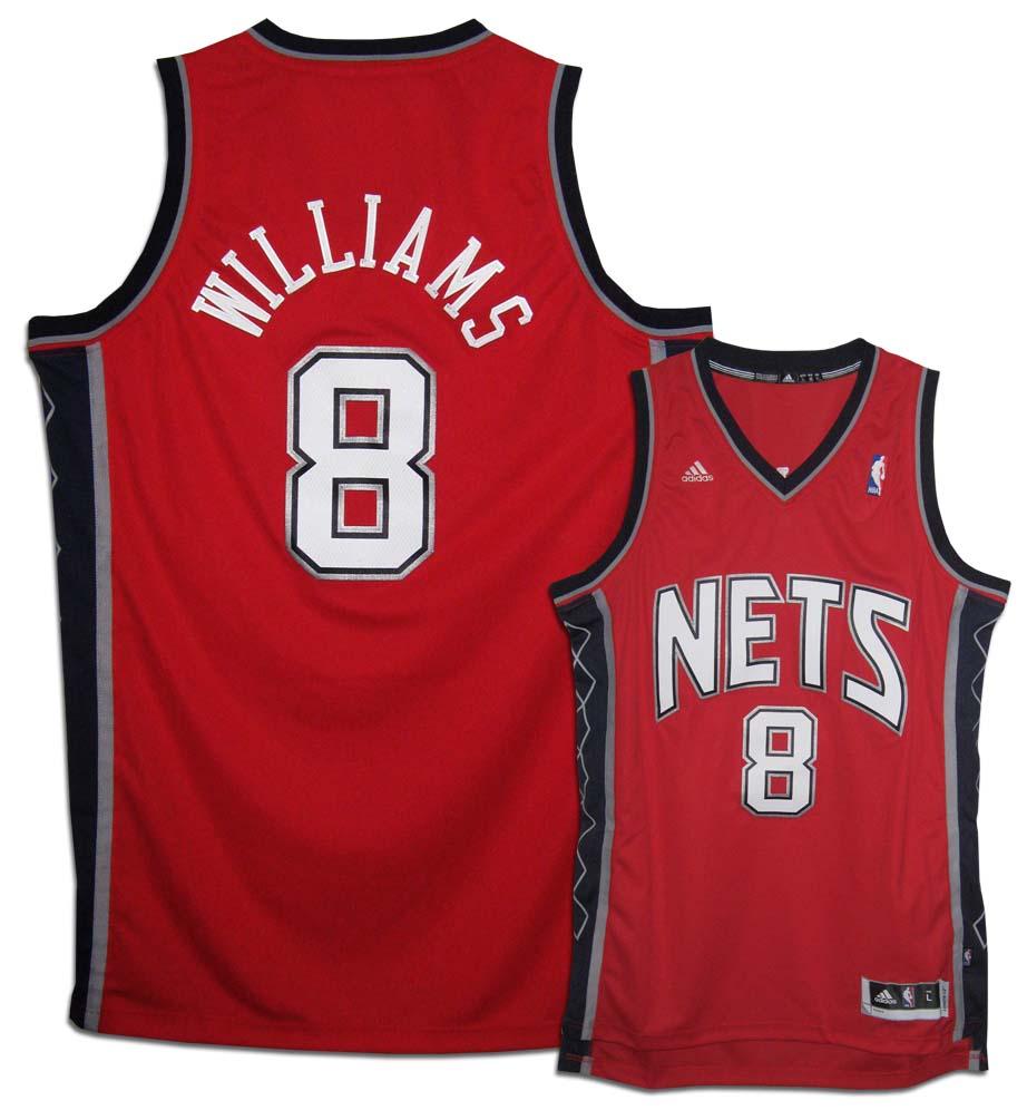 Deron Williams New Jersey Nets #8 Youth Revolution 30 Swingman Adidas NBA Basketball Jersey (Road Red)