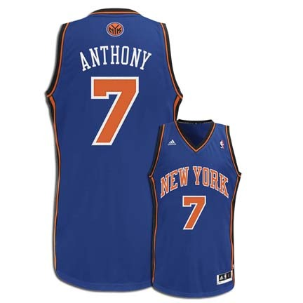 Carmelo Anthony New York Knicks #7 Youth Revolution 30 Swingman Adidas NBA Basketball Jersey (Road Blue) REB-28E2J-JM
