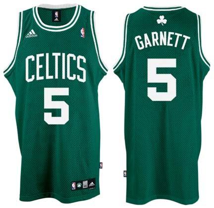 Kevin Garnett Boston Celtics #5 Revolution 30 Swingman Adidas NBA Basketball Jersey (Road Green)