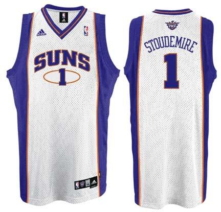 Amare Stoudemire Phoenix Suns #1 Swingman Adidas NBA Basketball Jersey (White)