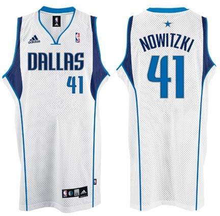 Dirk Nowitzki Dallas Mavericks #41 Swingman Adidas NBA Basketball Jersey (White)