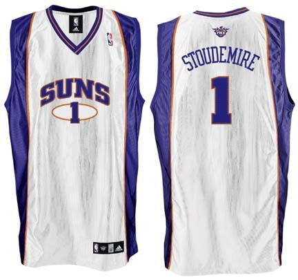 Amare Stoudemire Phoenix Suns #1 Authentic Adidas NBA Basketball Jersey (Home White)