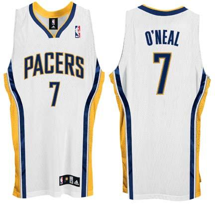 Jermaine O'Neal Indiana Pacers #7 Authentic Adidas NBA Basketball Jersey (Home White)