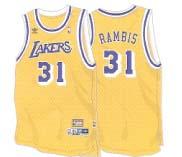Kurt Rambis Los Angeles Lakers #31 Retro Swingman Adidas NBA Basketball Jersey (Gold)