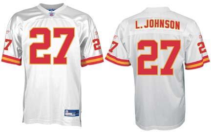 Larry Johnson Kansas City Chiefs #27 Authentic Reebok NFL Football Jersey (White) REB-R700A-230AUT4959