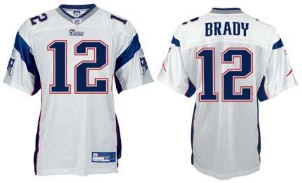 Tom Brady New England Patriots #12 Authentic Reebok NFL Football Jersey (White) |Super Bowl 2015 | PartyShelf.com