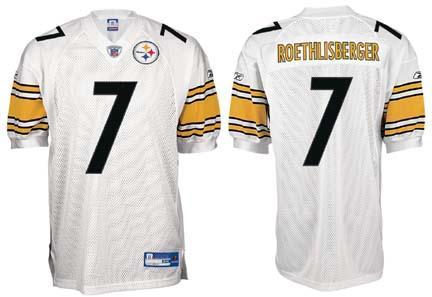 327eea158dd Ben Roethlisberger Pittsburgh Steelers  7 Authentic Reebok NFL Football  Jersey (White) (829760545268