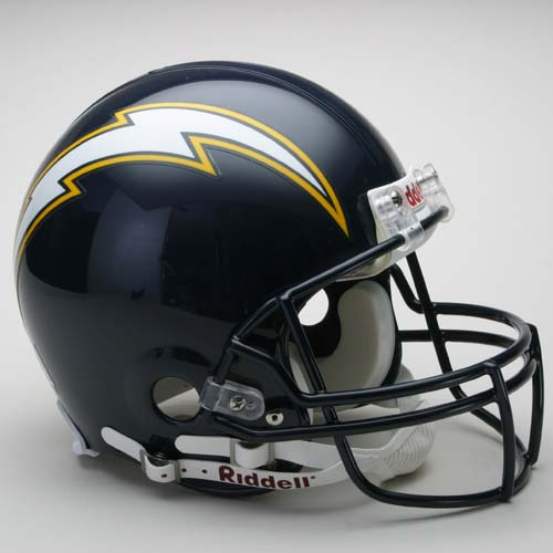 San Diego Chargers NFL Riddell 1988 - 2006 Throwback Authentic Pro Line Full Size Football Helmet