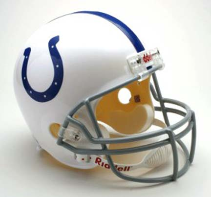 Indianapolis Colts NFL Riddell Full Size Deluxe Replica Football Helmet