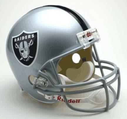 Football | Riddell | Replica | Raider | Deluxe | Helmet | Full | Size | NFL