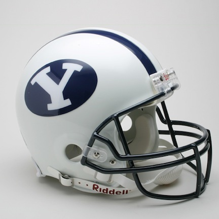 Brigham Young (BYU) Cougars NCAA Pro Line Authentic Full Size Football Helmet From Riddell