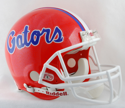 Florida Gators NCAA Pro Line Authentic Full Size Football Helmet From Riddell