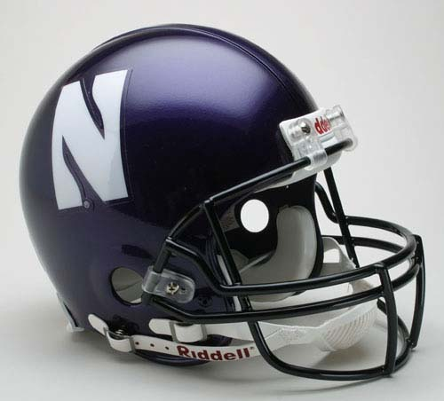 Northwestern Wildcats NCAA Pro Line Authentic Full Size Football Helmet From Riddell