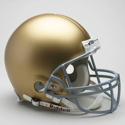Notre Dame Fighting Irish NCAA Pro Line Authentic Full Size Football Helmet From Riddell
