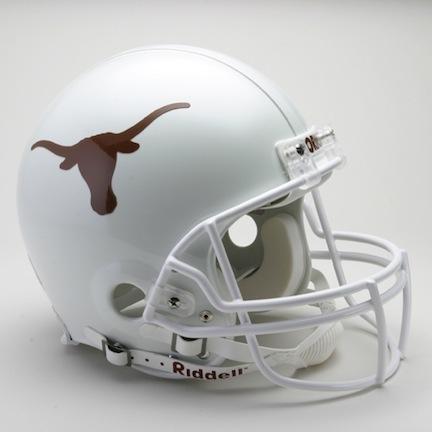Texas Longhorns NCAA Riddell Pro Line Authentic Full Size Football Helmet From Riddell