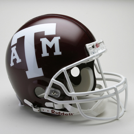 Texas A & M Aggies NCAA Riddell Pro Line Authentic Full Size Football Helmet From Riddell