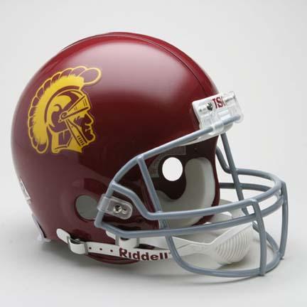 USC Trojans NCAA Riddell Pro Line Authentic Full Size Football Helmet From Riddell