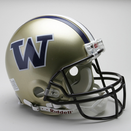 Washington Huskies NCAA Riddell Pro Line Authentic Full Size Football Helmet From Riddell