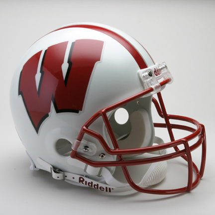 Wisconsin Badgers NCAA Riddell Pro Line Authentic Full Size Football Helmet From Riddell