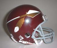 Washington Redskins 2002 Riddell Home Throwback Mini Helmet (New Face Mask with Spear)