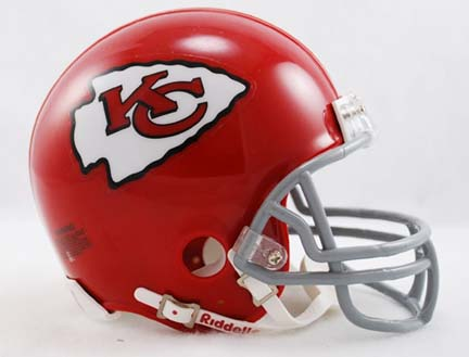 Image of 1963 - 1973 Kansas City Chiefs Z2B Throwback Replica Mini Helmet from Riddell