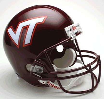 Virginia Tech Hokies NCAA Riddell Full Size Deluxe Replica Football Helmet