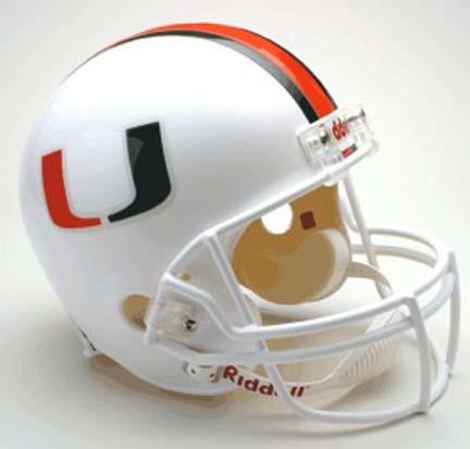 Miami Hurricanes NCAA Riddell Full Size Deluxe Replica Football Helmet