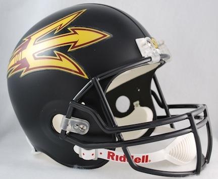 Arizona State Sun Devils NCAA Riddell Full Size Deluxe Replica Football Helmet (Black)