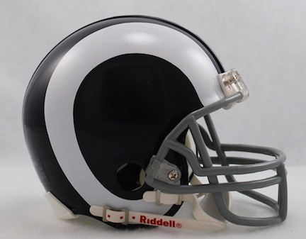 Los Angeles Rams NFL Riddell Replica Mini Throwback Football Helmet (1965 - 1972) RID-41401-240