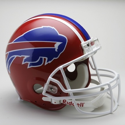 "Buffalo Bills (1987 - 2001) Riddell Full Size ""Old Style Throwback"" Authentic Football Helmet"