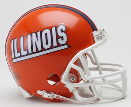 Illinois Fighting Illini NCAA Riddell Replica Mini Football Helmet