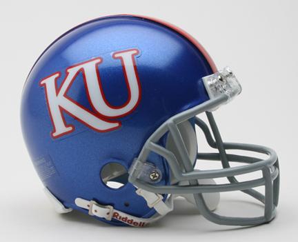 Kansas Jayhawks NCAA Riddell Replica Mini Football Helmet