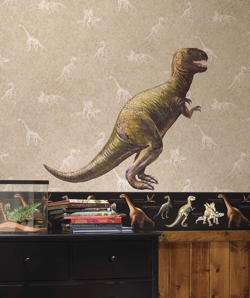 Dinosaur Peel and Stick Giant Wall Applique / Decal RM-CK7849