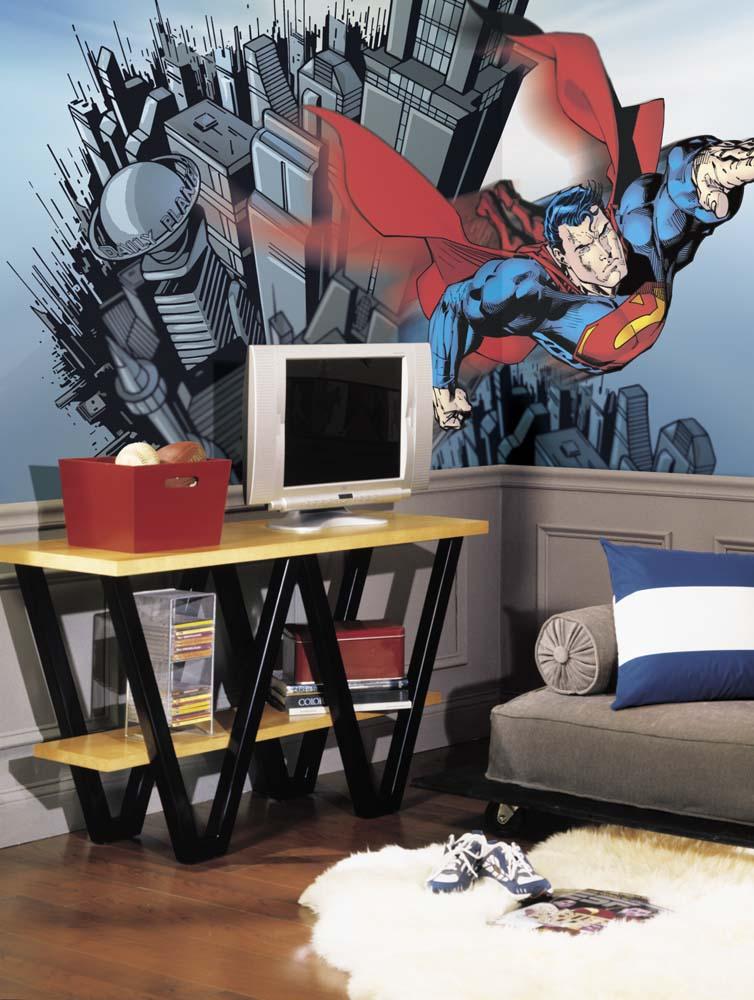 Superman Chair Rail Prepasted 6' x 10' Wall Mural RM-JL1064M