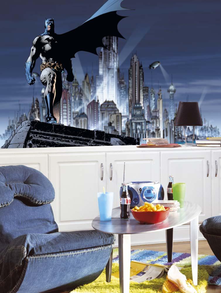 Batman Chair Rail Prepasted 6' x 10' Wall Mural