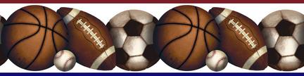 Play Ball Peel and Stick Wall Border