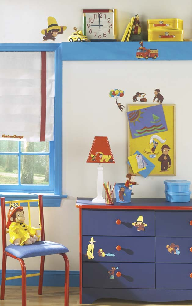 Curious George Peel and Stick Applique / Wall Decal Set RM-RMK1037SCS