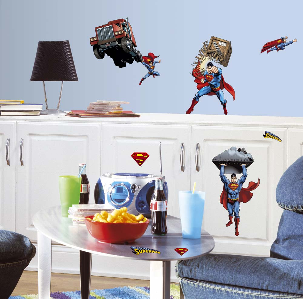 Superman Day of Doom Peel and Stick Applique / Wall Decal Set RM-RMK1194SCS