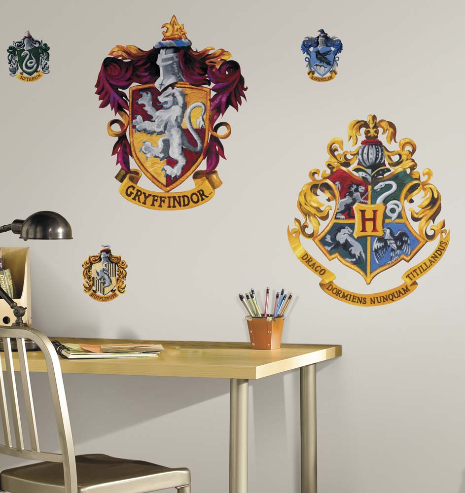 """Harry Potter """"Crest"""" Peel and Stick Giant Wall Applique / Decal Set"""