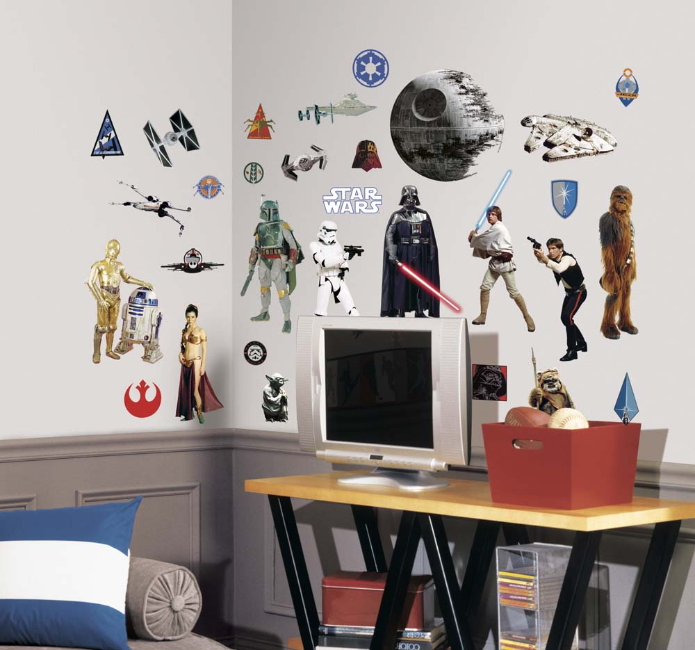 "Star Wars """"Classic"""" Peel and Stick Applique / Wall Decal Set"" RM-RMK1586SCS"