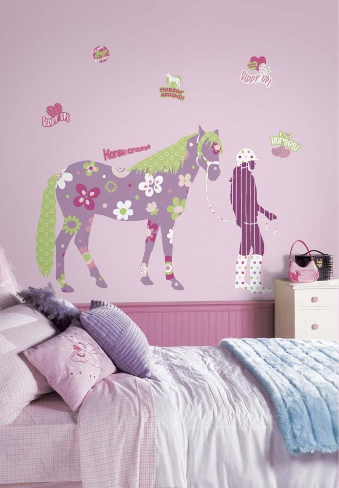 Horse Crazy Peel and Stick MegaPack Applique / Wall Decal Set RM-RMK1664SLM