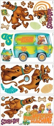 Scooby Doo Peel and Stick Applique / Wall Decal Set RM-RMK1696SCS