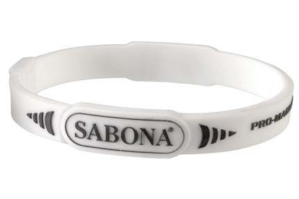 White Pro Magnetic Sport Wristband (Western Package) from Sabona