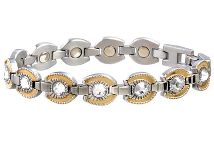 Ladies' Gem Gold Horseshoe Western Series Magnetic Bracelet from Sabona