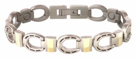 Silver Horseshoe Duet Magnetic Bracelet from Sabona