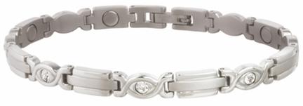 Ladies Executive Silver Gem Magnetic Bracelet from Sabona