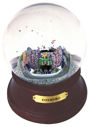 Historical Foxboro (New England Patriots) NFL Football Stadium Snow Globe with Microchip Activated Song SCG-FOXBOROMCFB