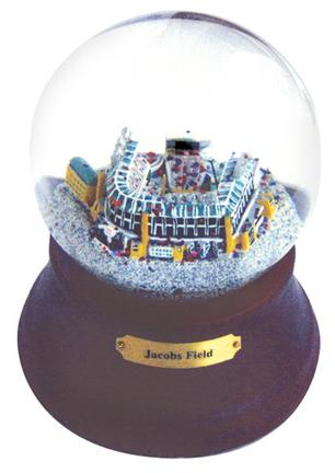 Jacobs Field (Cleveland Indians) MLB Baseball Stadium Snow Globe with Microchip Activated Song