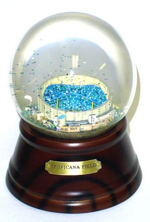 Tropicana Field (Tampa Bay Rays) MLB Baseball Stadium Snow Globe with Microchip Activated Song SCG-TROPICANAMC