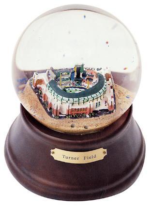 Turner Field (Atlanta Braves) MLB Baseball Stadium Snow Globe with Microchip Activated Song